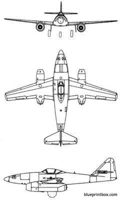 messerchmitt me 262a model airplane plan
