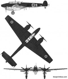 messerschmitt bf110 d 1 r 1 model airplane plan