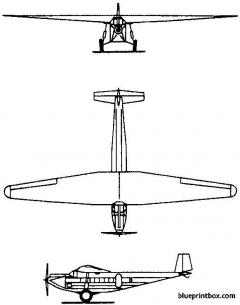 messerschmitt m 20 1928 germany model airplane plan