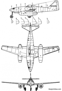 messerschmitt me 262aschwalbe model airplane plan