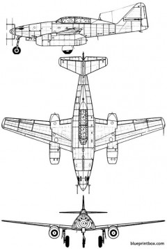 messerschmitt me 262bschwalbe model airplane plan