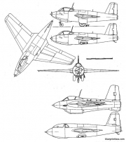 messerschmitt me 263 model airplane plan