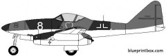 messerscmidt me262 model airplane plan