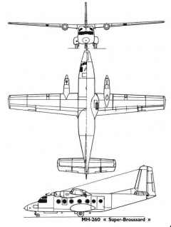mh260 3v model airplane plan