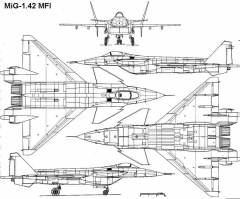 mig142mfi 3v model airplane plan