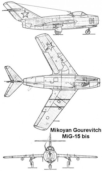 mig15 3v model airplane plan