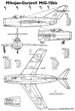 mig15 fagot model airplane plan