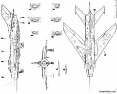 mig19 farmer model airplane plan