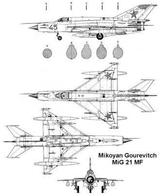 mig21mf 3v model airplane plan