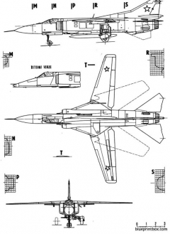 mig23 flogger model airplane plan