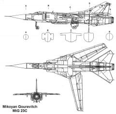 mig23c 1 3v model airplane plan