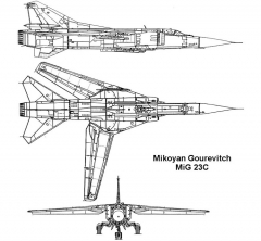 mig23c 2 3v model airplane plan