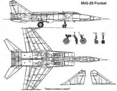 mig25 2 3v model airplane plan