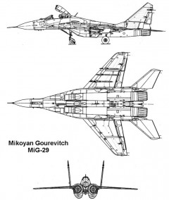 mig29s 2 3v model airplane plan