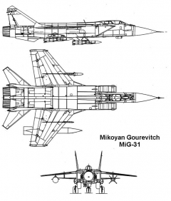 mig31 1 3v model airplane plan