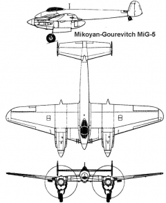 mig5 3v model airplane plan