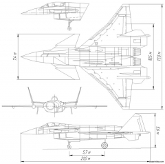 mig 142 multifunctional fighter project model airplane plan
