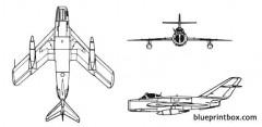 mig 17 fresco model airplane plan