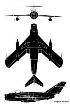 mig 17 fresco e model airplane plan