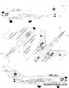 mig 17 pfu fresco e model airplane plan