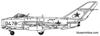 mig 17f fresco c model airplane plan
