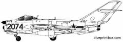 mig 17pf fresco d model airplane plan