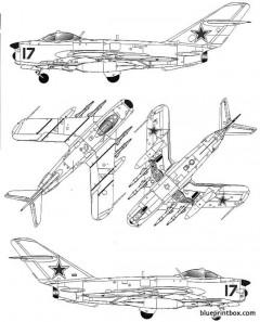 mig 17pfu fresco e model airplane plan