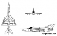 mig 21 fishbed model airplane plan