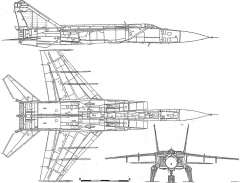 mig 25 4 model airplane plan