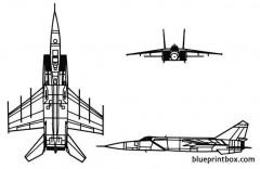 mig 25 foxbat model airplane plan