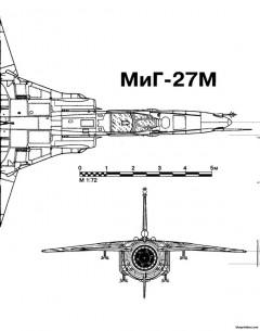 mig 27 11 model airplane plan
