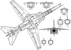 mig 27 3 model airplane plan