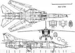 mig 27 5 model airplane plan