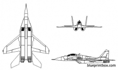 mig 29 fulcrum model airplane plan