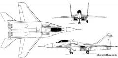 mig 29 fulcrum 2 model airplane plan
