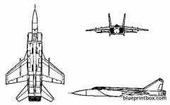 mig 31 foxhound model airplane plan