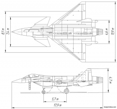 mig 412 light frontline fighter project model airplane plan