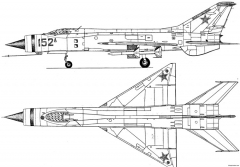 mig e 152 model airplane plan