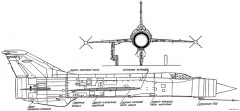mig e 152 7 model airplane plan