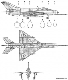 mikoyan gourevitch mig 21f fishbed model airplane plan