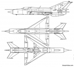 mikoyan gourevitch mig 21pf fishbed c model airplane plan