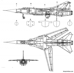 mikoyan gourevitch mig 23c flogger model airplane plan
