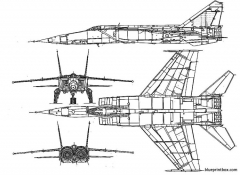 mikoyan gourevitch mig 25 foxbat model airplane plan