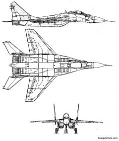 mikoyan gourevitch mig 29 fulcrum model airplane plan