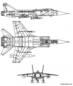 mikoyan gourevitch mig 31 foxhound model airplane plan