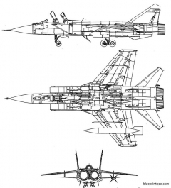 mikoyan gourevitch mig 31 foxhound 2 model airplane plan