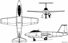 mikoyan gurevich i 270 1947 russia model airplane plan