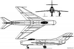 mikoyan gurevich i 350 1951 russia model airplane plan