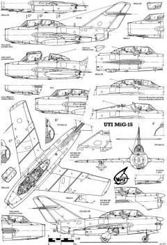 mikoyan gurevich mig 15 model airplane plan