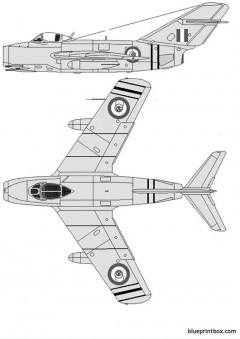 mikoyan gurevich mig 15bis fagot model airplane plan